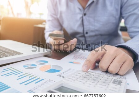 Business Financing Accounting Banking Concept, businessman using Stock photo © Freedomz