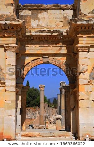 Szökőkút ősi város épület nyár kő Stock fotó © grafvision