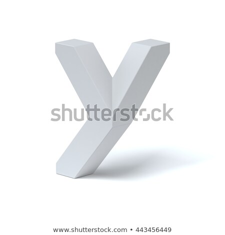 Blue extruded font Letter Y 3D Stock photo © djmilic