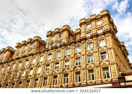 Pałac Praha ambitny projektu stylu budynku Zdjęcia stock © borisb17