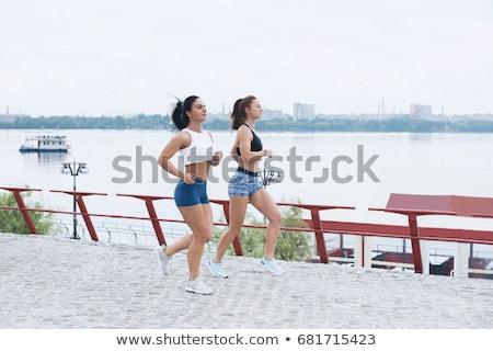Paisaje dos femenino actividad aire libre Foto stock © boggy