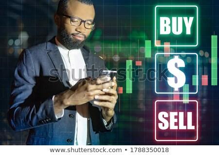 Online bankügylet csere jövedelem afrikai üzletember Stock fotó © studiostoks