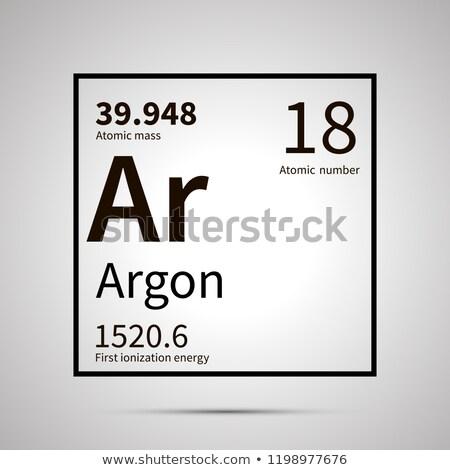 химического элемент первый энергии атомный масса Сток-фото © evgeny89