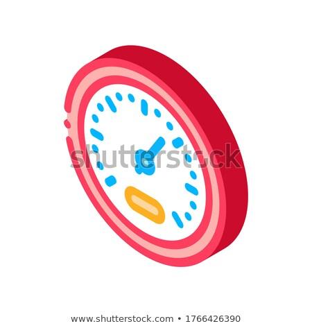 Atleta acelerar indicador isométrica ícone vetor Foto stock © pikepicture