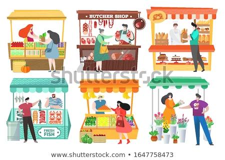 para · zakupu · supermarket · kobieta · żywności - zdjęcia stock © photography33