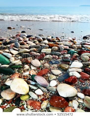 ciottoli · texture · piccolo · ciottolo · pietre · spiaggia - foto d'archivio © ozaiachin