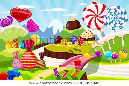 çikolata · düşler · artistik · portre · esmer · yeme - stok fotoğraf © lithian