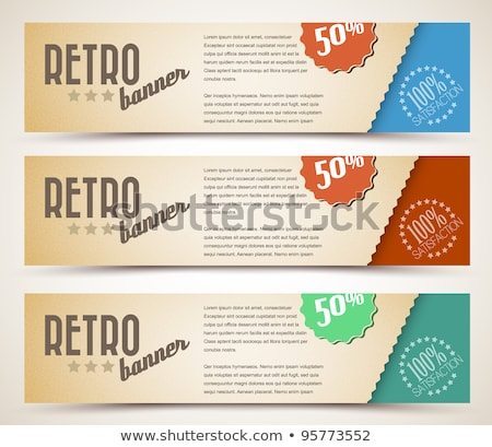 Ingesteld retro horizontaal banners nummers monster Stockfoto © orson