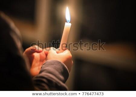 свечей · храма · люди · сжигание · христианской · Церкви - Сток-фото © bbbar