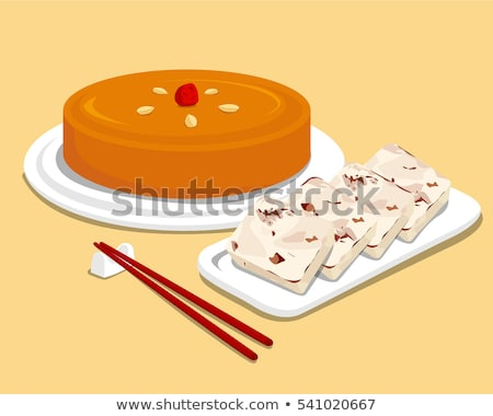 Chinese New Year rice cake on white background Stock photo © kawing921