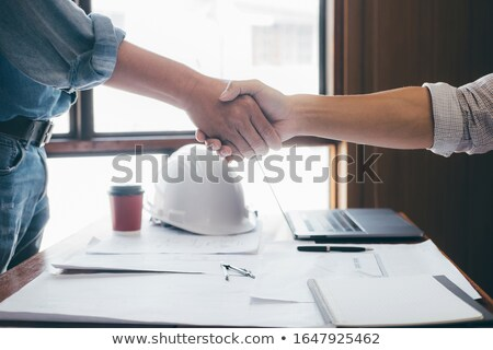 Foreman and architect in complete agreement Stock photo © photography33