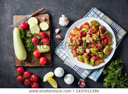 Vegetables and Chicken Ragout Stock photo © zhekos
