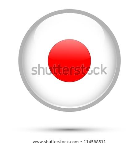 Stock fotó: Japán · zászló · gomb · ikon · modern · vektor