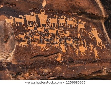 indian petroglyph stock photo © pedrosala