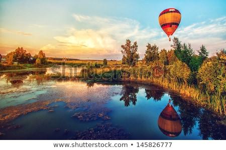 Sonbahar balon uçuşlar uçuş balonlar renkli Stok fotoğraf © ondrej83