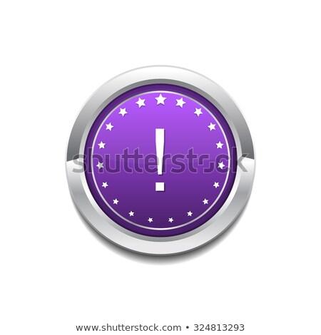 Alert Sign Purple Circular Button Icon Stock photo © rizwanali3d