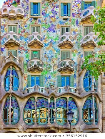 Histórico casas Barcelona edad España casa Foto stock © elxeneize
