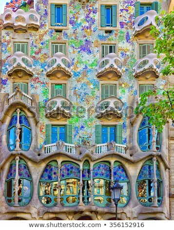 Historic houses in Barcelona Stock photo © elxeneize