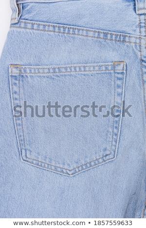 кармана подробность назад текстуры синий ткань Сток-фото © schizophrenia