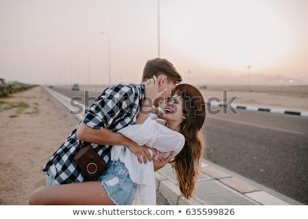 Beleza bonitinho casal isolado branco Foto stock © alexandrenunes