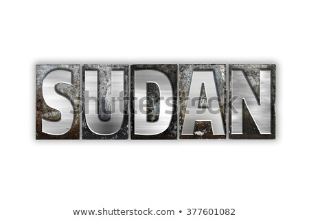 Soedan geïsoleerd type woord geschreven Stockfoto © enterlinedesign