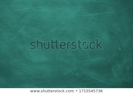 Kirli yeşil tahta ahşap okul kalem Stok fotoğraf © sedatseven