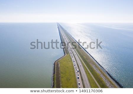 Highway on Afsluitdijk Stock photo © Hofmeester