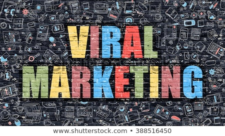 Foto d'archivio: Virale · marketing · doodle · design · bianco