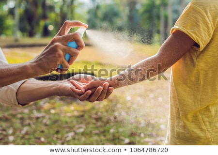 Mosquitos naturaleza hoja hierba agua médicos Foto stock © Olena