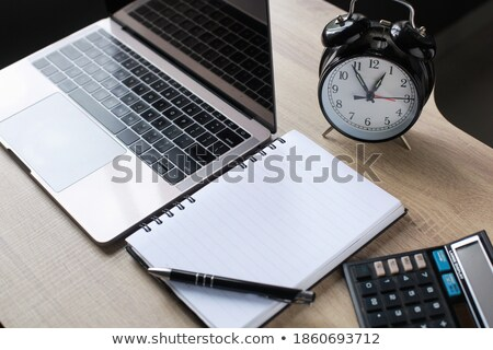 Stock photo: Eyeglasses, pen and calculator
