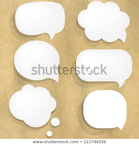Balão de fala papel velho gradiente papel abstrato Foto stock © cammep