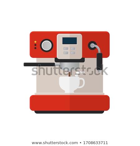 горячий · напиток · оборудование · изолированный · эскиз - Сток-фото © rastudio