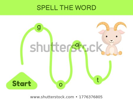Spell English word goat Stock photo © bluering