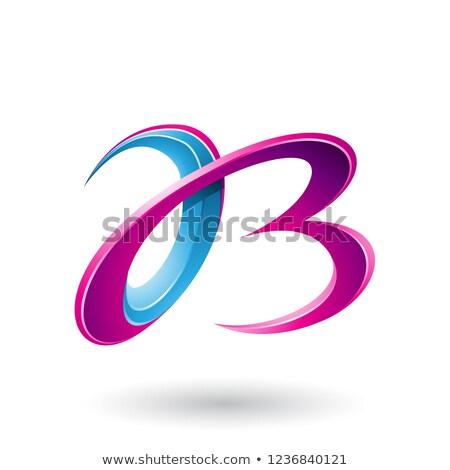 Blu magenta 3D lettere vettore Foto d'archivio © cidepix