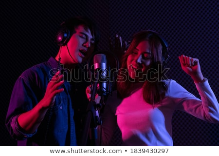 Music Performance by Duo, Couple Man and Woman Stock photo © robuart