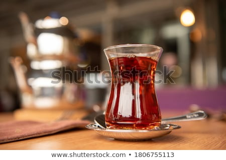 Turco chá autêntico vidro copo tabela Foto stock © grafvision