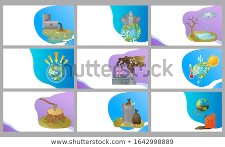 Destruction of Forests, Acid Rains Website Set Stock photo © robuart
