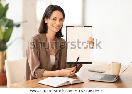 女性 注記 文字 女性 クローズアップ ストックフォト © nito