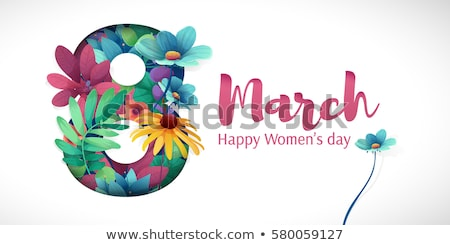 Greeting Postcards on 8 March with Happy Women Stock photo © robuart