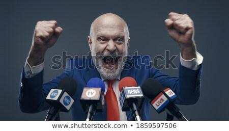 Politicus kandidaat spreker triomf overwinning komische Stockfoto © rogistok