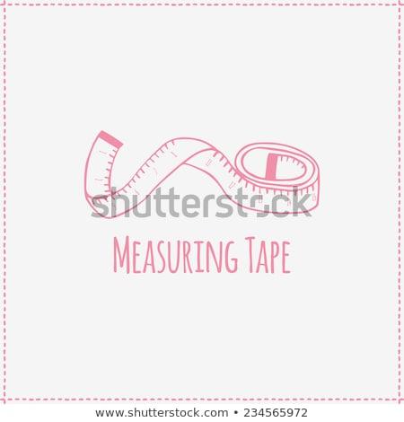 Measuring Tape Cartoon Retro Drawing Stock photo © patrimonio
