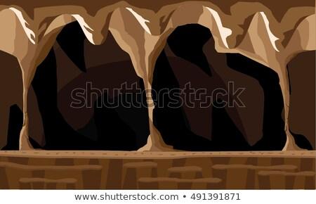 古代 洞窟 色 ベクトル 装飾的な ストックフォト © pikepicture