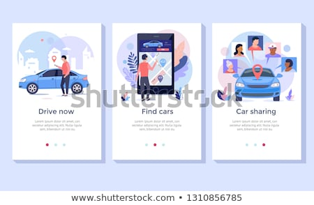 Rental car service landing page template Stock photo © RAStudio
