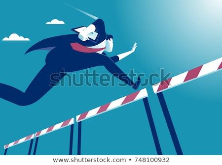 стремление высокий бизнеса гонка иллюстрация деловая женщина Сток-фото © jossdiim