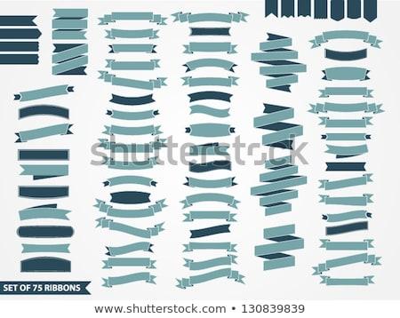 Ingesteld lint banners teken tape zijde Stockfoto © AbsentA
