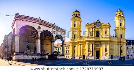 Iglesia Munich arquitectura torre turismo Foto stock © manfredxy