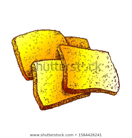 Fried Cheese In Batter Hot Meal Color Vector Stock photo © pikepicture