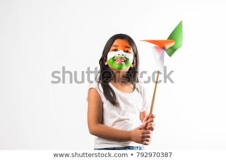 Orange grünen Herzen indian Republik Tag Stock foto © SArts