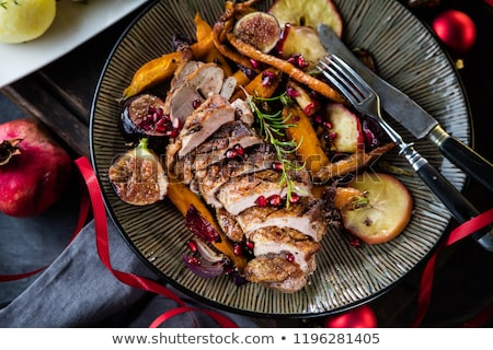 Slices of duck breast with fresh thyme Stock photo © Alex9500