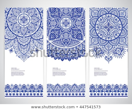 Paisley floral pattern or Indian mandala ornaments Stock photo © anbuch